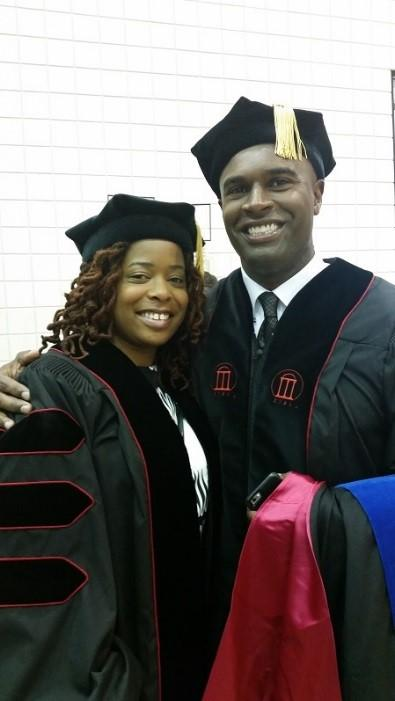 Dr. Christopher Johnson and Dr. Stephanie Jones at their 2016 University of Georgia graduation.