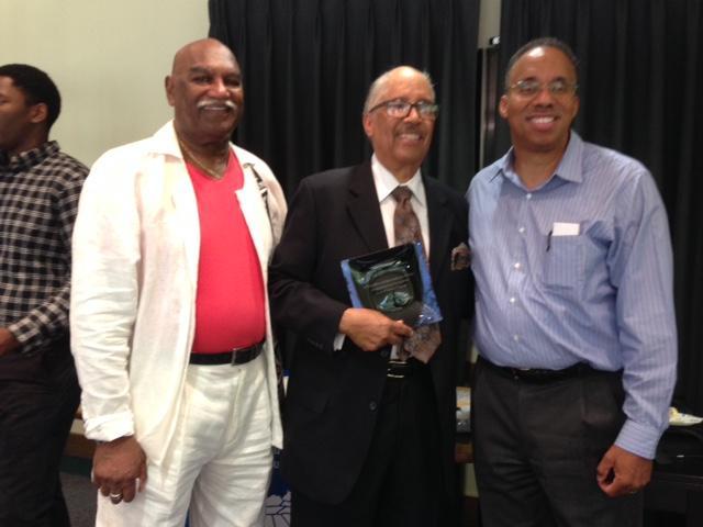 Dr. Bob Belle, associate director of the Doctoral Scholars Program, Dr. Walt Jacobs and Dr. Ansley Abraham, program director.