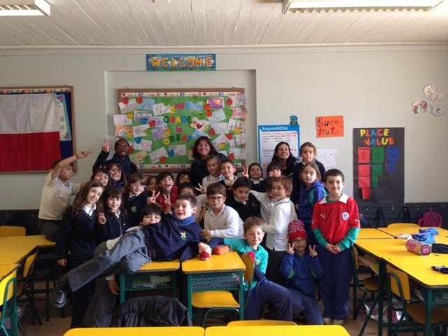 Melvin Jackson working with school children in Chile