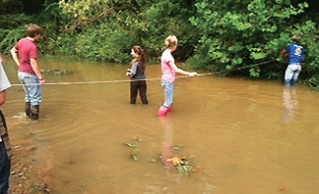 Measuring stream width