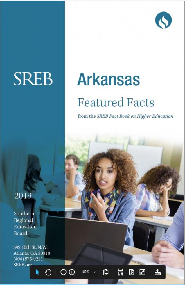 Arkansas Featured Facts from the SREB Fact Book on Higher Education. 2019