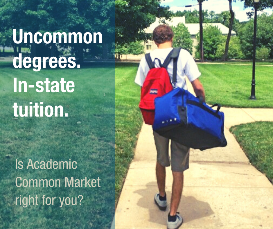 Uncommon degrees. In-state tuition. Is Academic Common Market right for you?