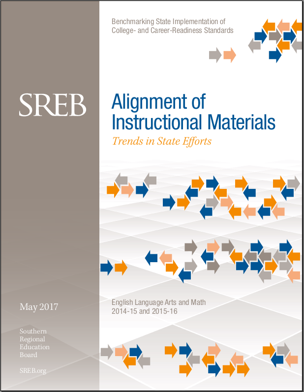 Alignment Of Instructional Materials Southern Regional Education Board