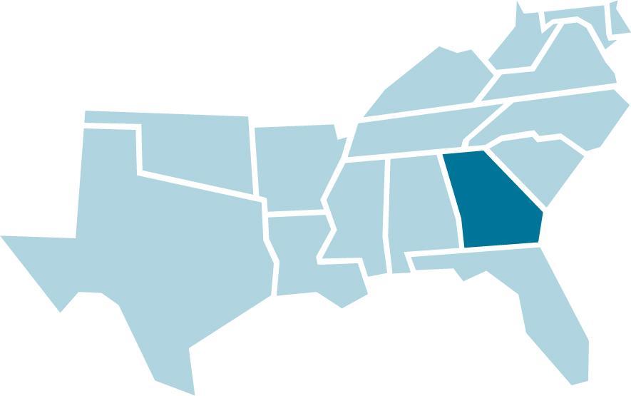 Map Of Georgia Southern.Georgia Southern Regional Education Board