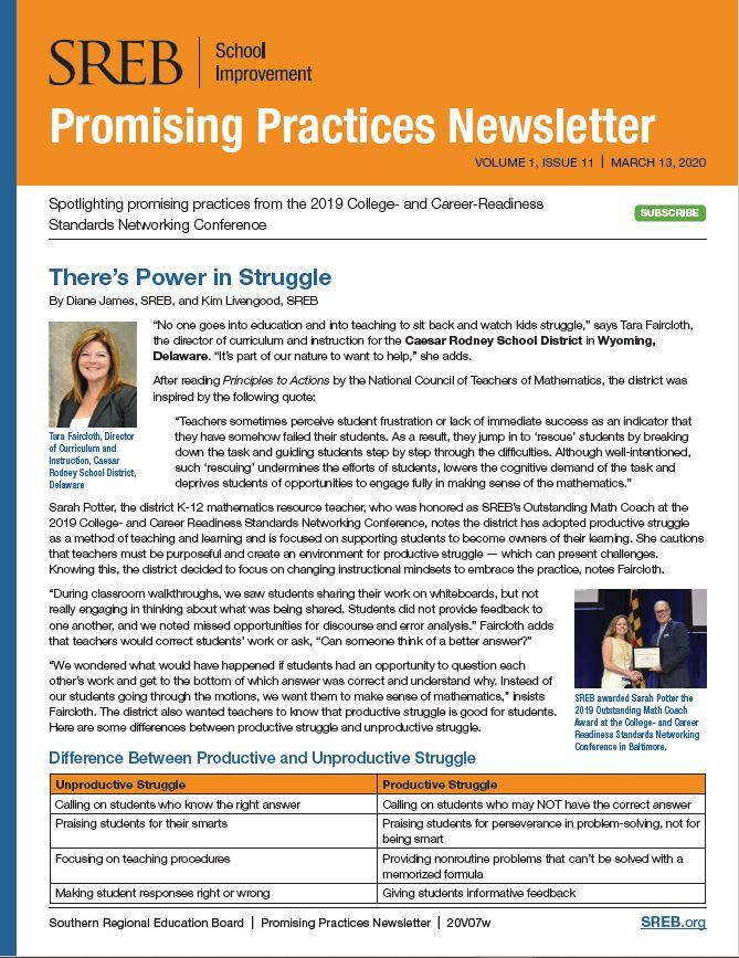 Picture of newsletter cover