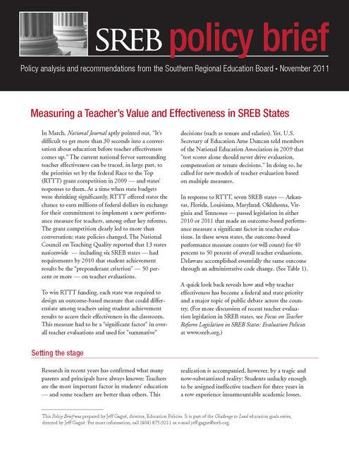 Measuring A Teachers Value And Effectiveness