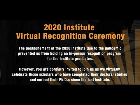 View the 2020 Virtual Institute Graduation Recognition Ceremony