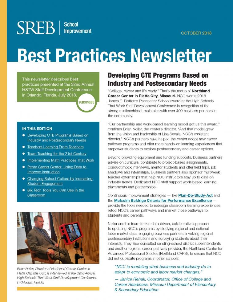Promising Practices Newsletter - Southern Regional Education