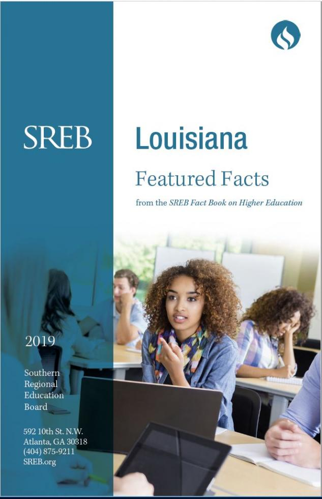 Louisiana Featured Facts from the SREB Fact Book on Higher Education. 2019