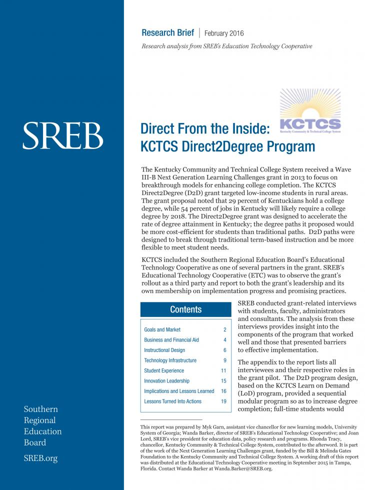 Educational Technology Cooperative - Southern Regional Education Board