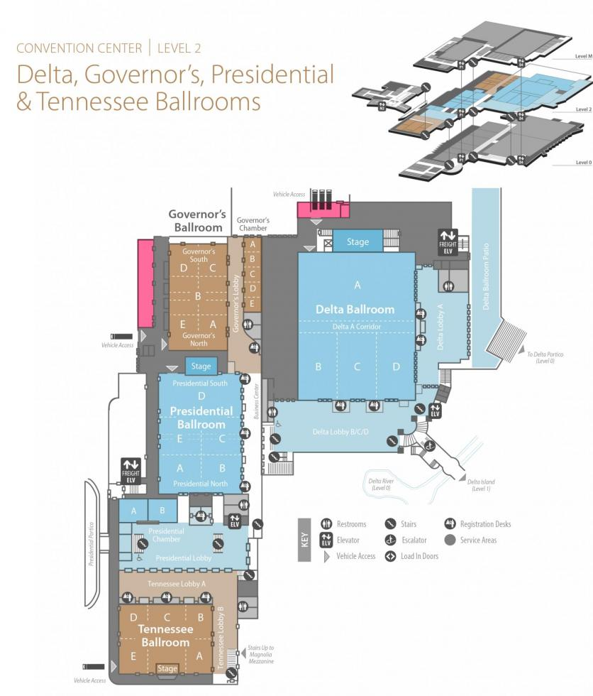 Delta, Governor's, Presidential and Tennessee Ballrooms