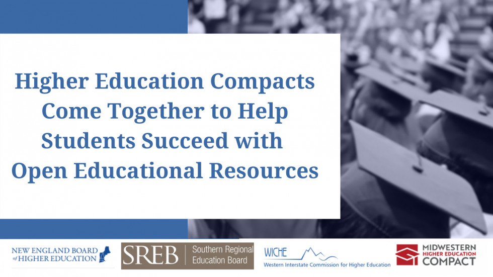 Higher Education Compacts Come Together to Help Students Succeed with Open Educational Resources