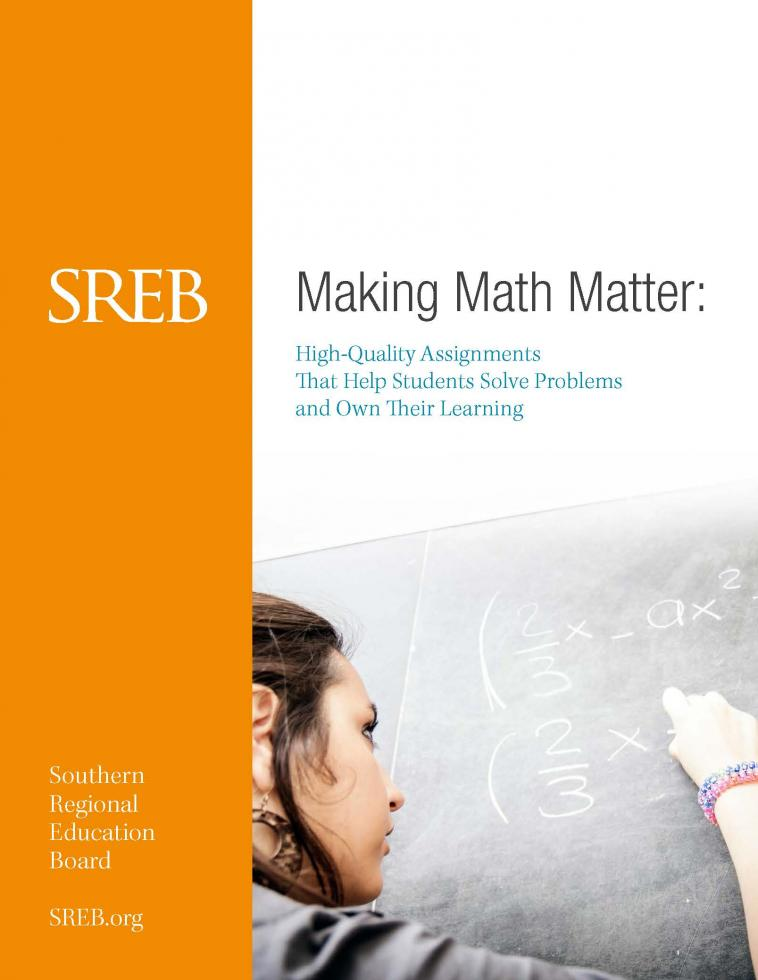 Report cover: Making Math Matter