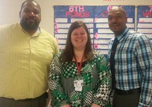 Three Minor Middle School administrators