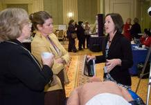 Nurse educators at the Annual Meeting learn about the METIman simulator