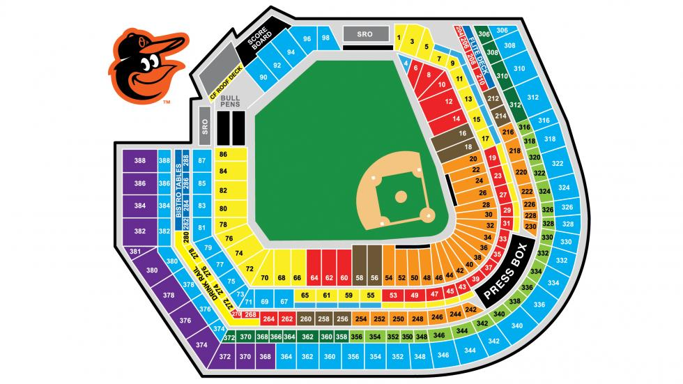 Orioles Seating Chart
