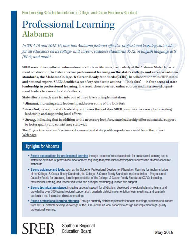State: Alabama - Southern Regional Education Board