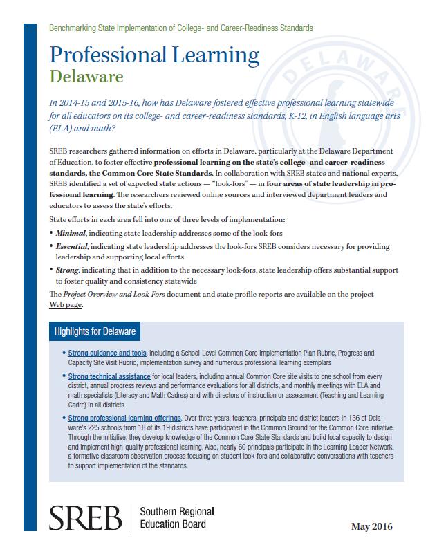 State: Delaware - Southern Regional Education Board