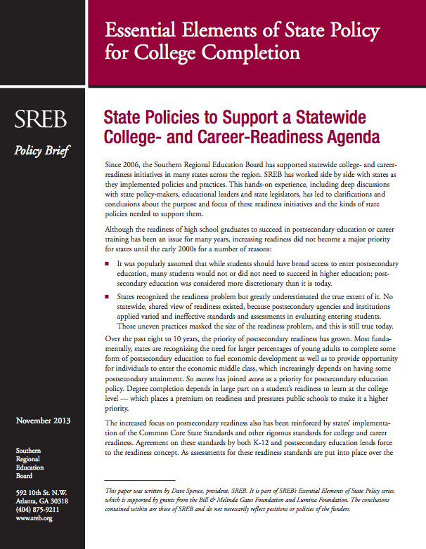 Topic: College and Career Readiness - Southern Regional