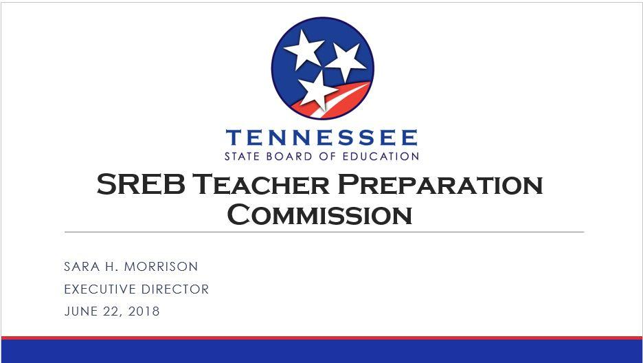 Teacher Preparation Commission Southern Regional Education Board